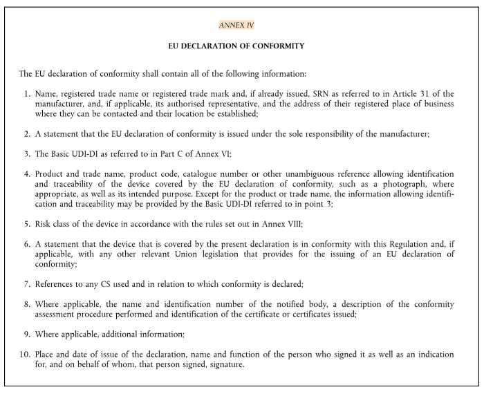 eu declaration of conformity annex 4